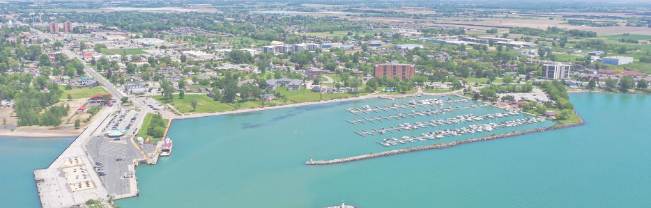Municipality of Leamington from drone