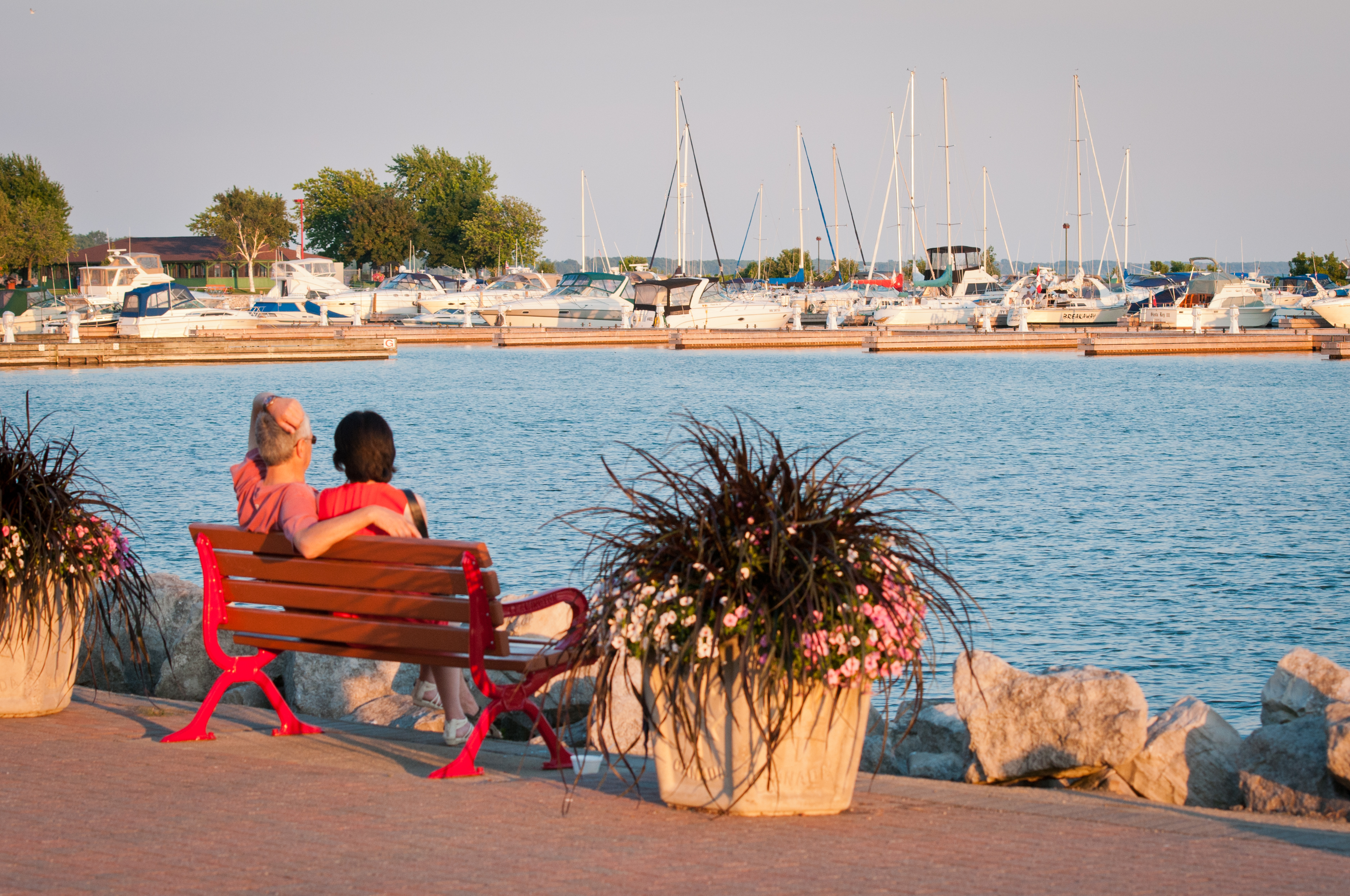 Couple on Bench at waterfront