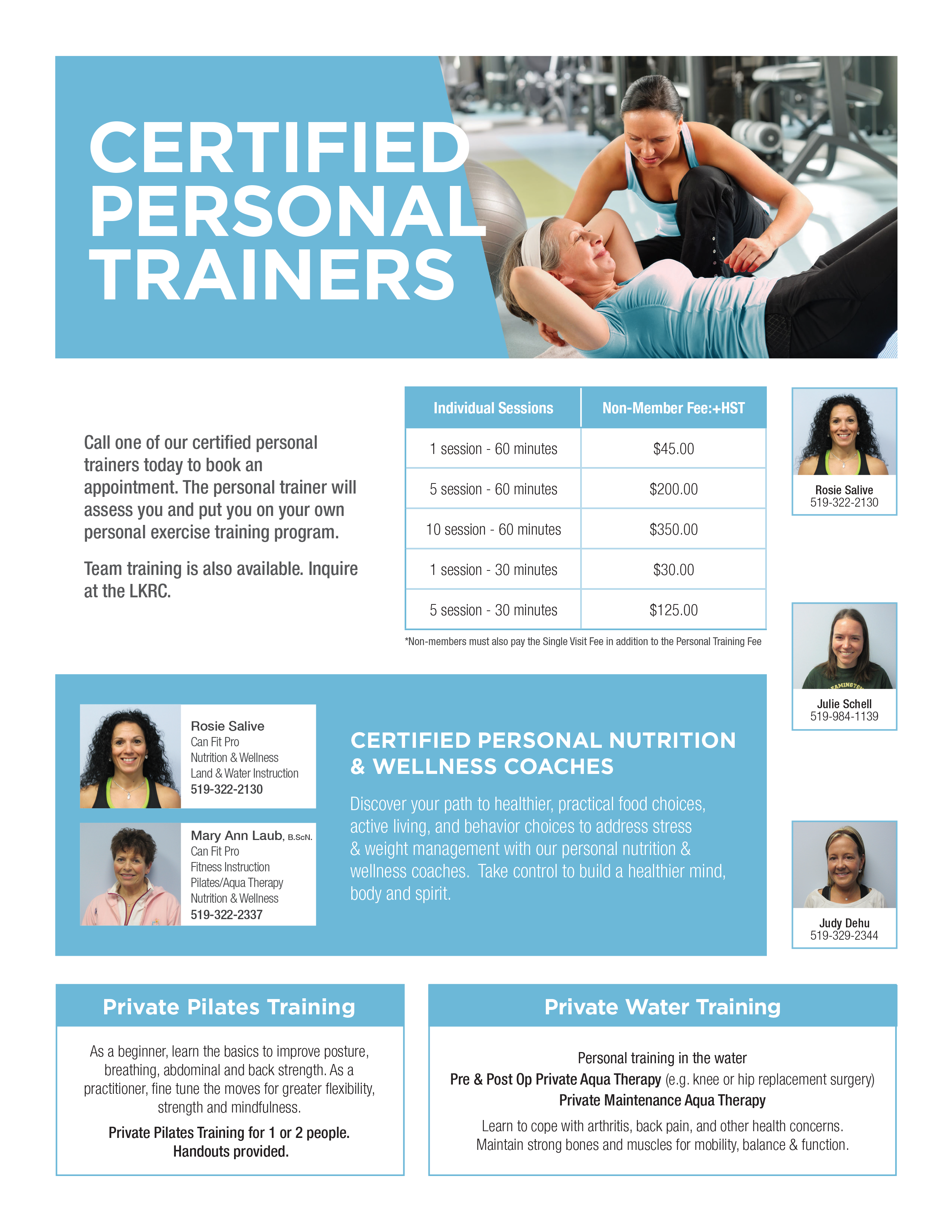 Personal Training at the LKRC