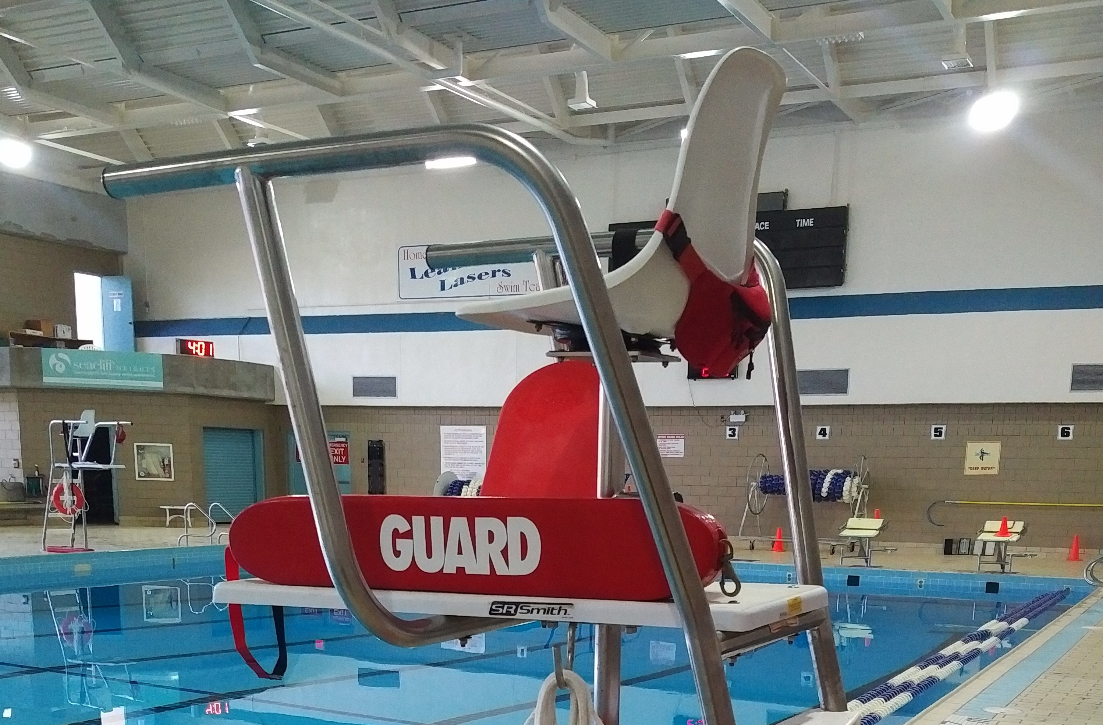 Pool and Lifeguard Chair