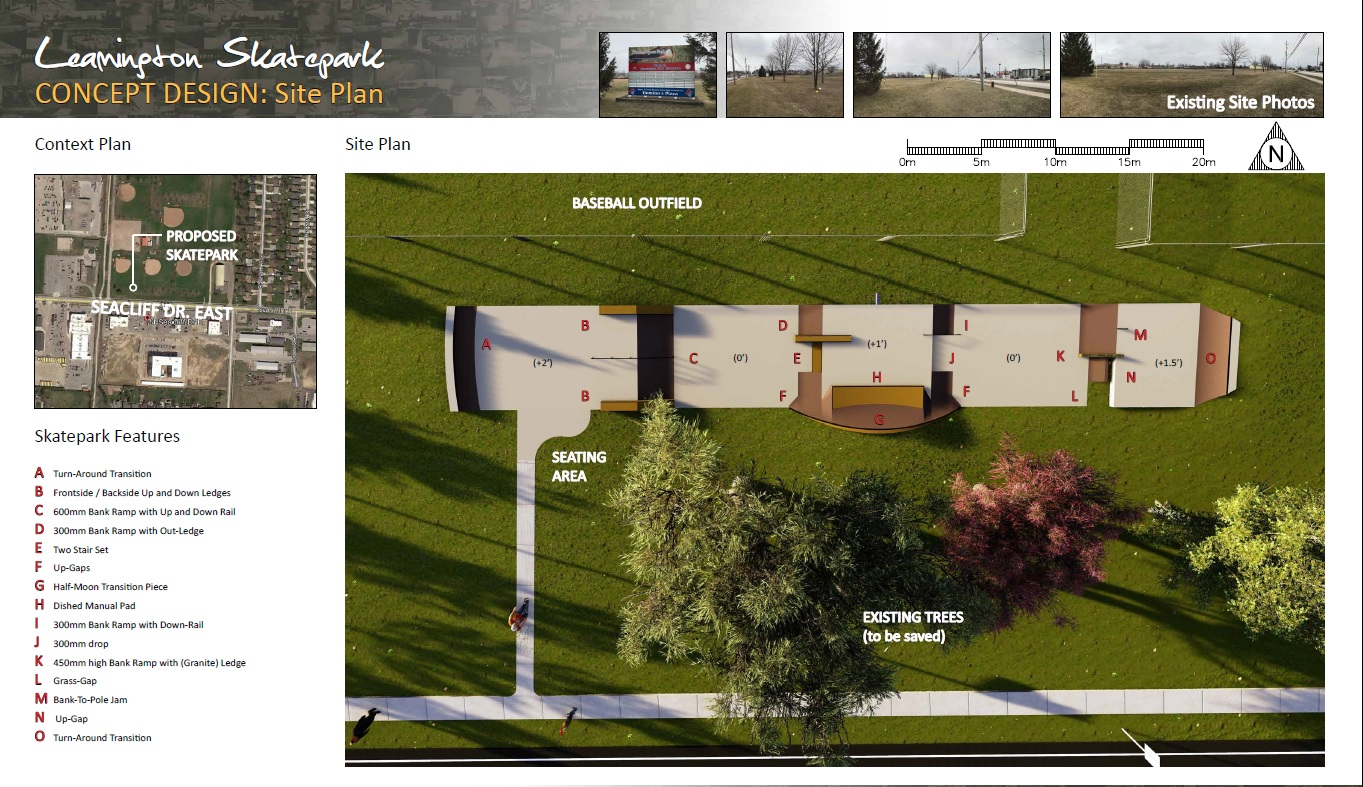 Leamington Skateboard Park Site Plan